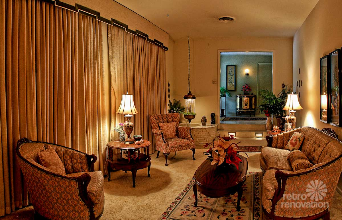 gray and turquoise living room colors indian impeccable 1972 time capsule house in san antonio - 33 ...