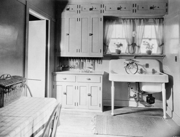 antique farmhouse kitchen cabinets 16 vintage Kohler kitchens - and an important kitchen sinks still offered today - Retro Renovation