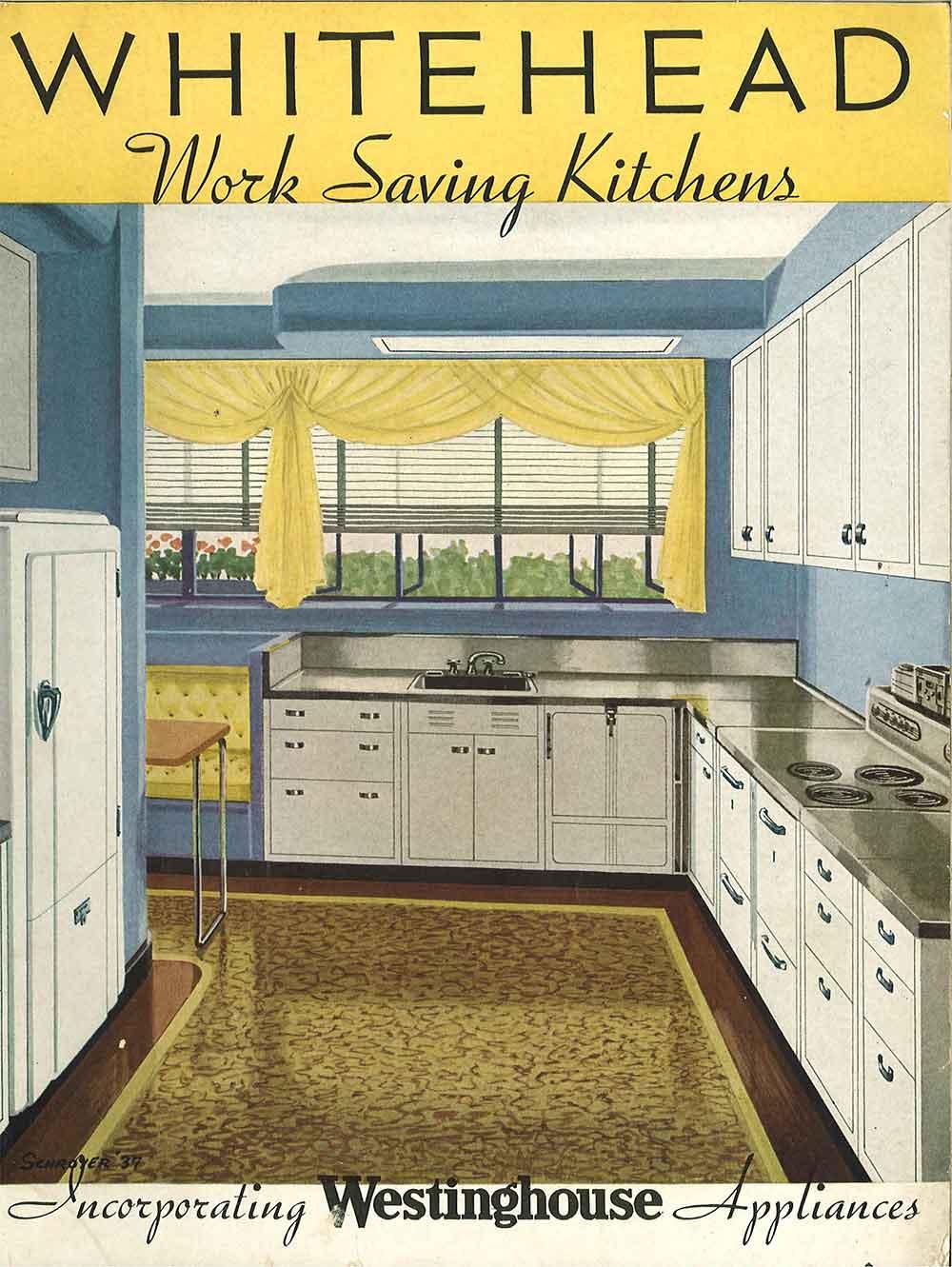 Whitehead Work Saving Kitchens 1937 1940s Steel Kitchen Cabinets
