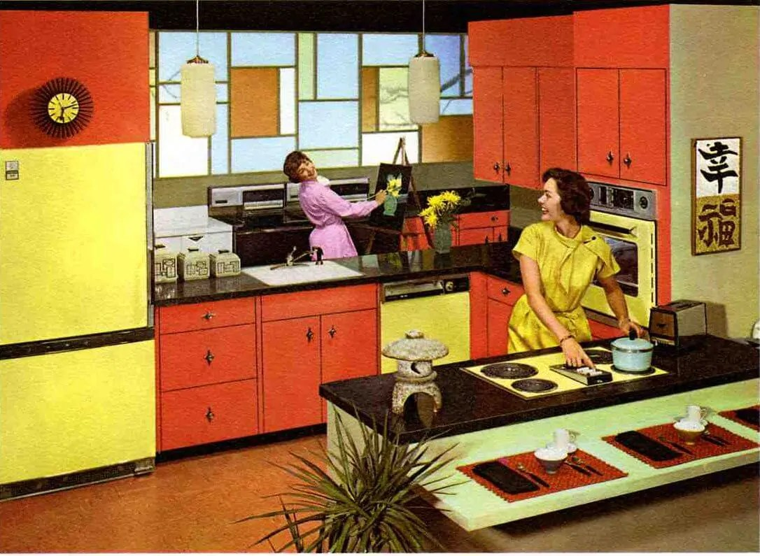 Retro Kitchen Paint Colors From 50s To Early 60s Geneva