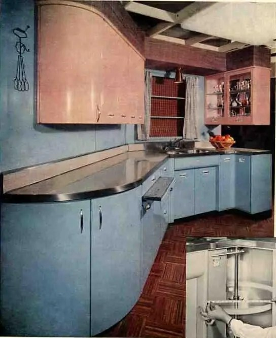 61 Mamie Pink Kitchens Twotone is the theme today