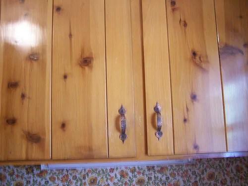 kitchen cabinets knotty alder white countertops pine - retro renovation