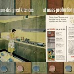 Midcentury Wood Kitchen Cabinets In A Rainbow Of Tinted