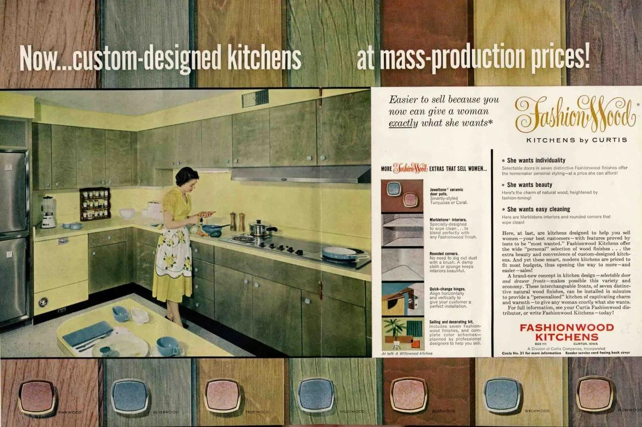 mid level kitchen cabinets best countertop midcentury wood in a rainbow of tinted