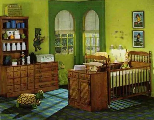 Midcentury childrens bedrooms from Ethan Allen 1974