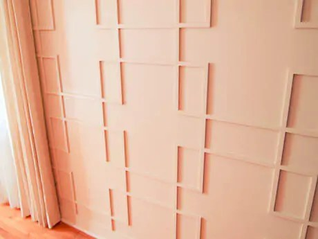 Dave makes mid century modern wall panels for his living