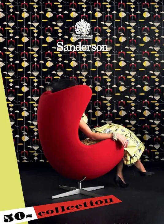 Sanderson 1950s wallpaper and fabrics  new line