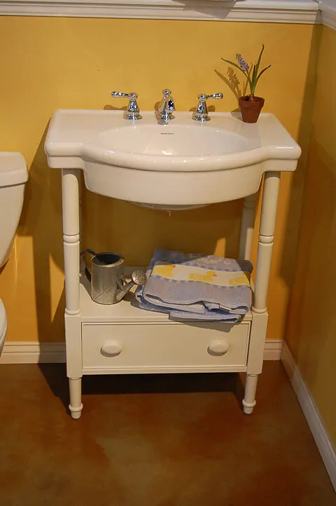 A vanity for the black and white 1940s bathroom 7day Gut Renovation Chronicles  Retro Renovation