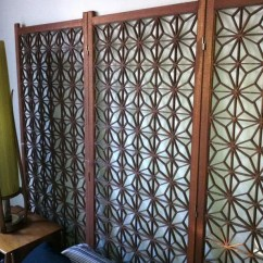 Decorative Screens For Living Rooms Black White And Purple Room Decor Use A Mid Century Screen As Headboard Modern Used