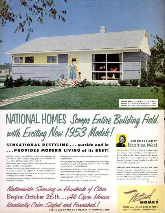 National Homes corp. ad