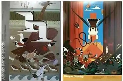 cost to remodel kitchen backsplash glass tile and stone 8 charley harper posters - straight from u.s. government ...