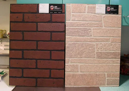 12 wall panels that look like brick and stone: I dig it
