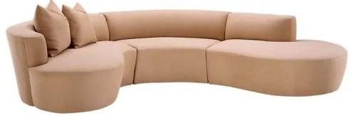 11 round sofas in midcentury or
