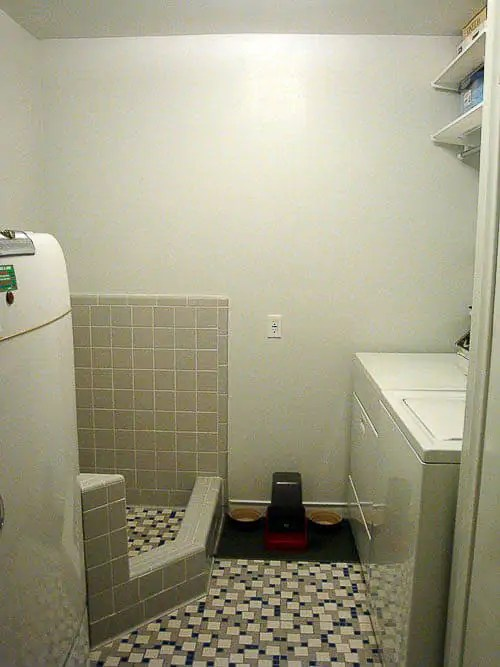 Natalie and Graham add retro Daltile  and a dog shower