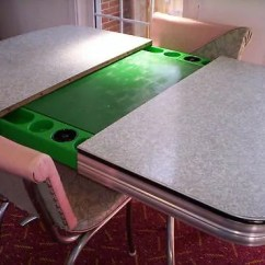 1950s Kitchen Table Counter Tile The Daystrom Playdine A That Transforms Into Opens To Reveal Poker