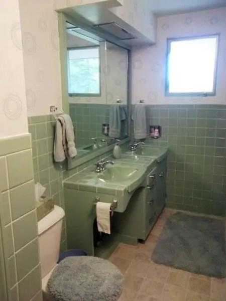 avocado green bathroom tile Terrific bathroom tile ideas from 12 reader bathrooms