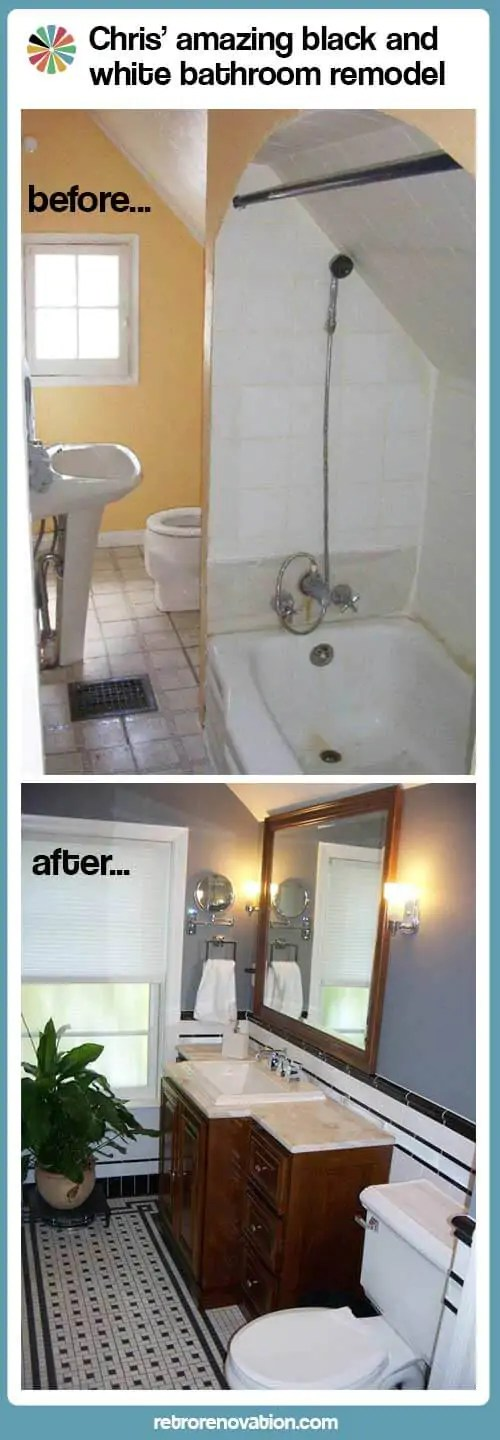 Vintage Bath Remodel before and after  Retro Renovation