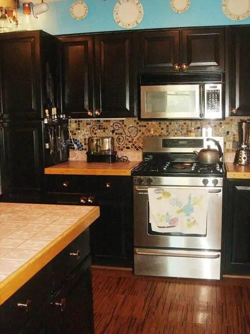 cork flooring in kitchen round sink christa's mosaic art backsplash - 'pique assiette ...