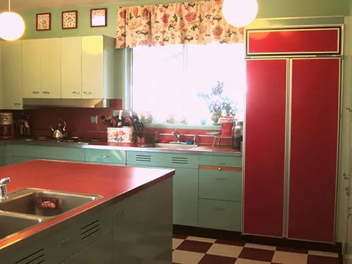 Nancy's Metal Kitchen Cabinets Get A Fresh Coat Of Paint And Lots