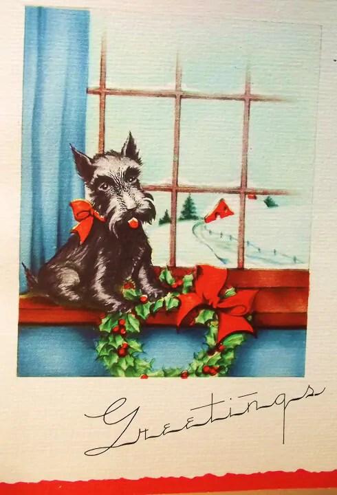 Roaring 20s Vintage Christmas Card Stockpile Michael