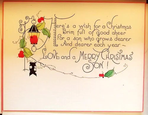 Roaring 20s Vintage Christmas Card Stockpile Michael