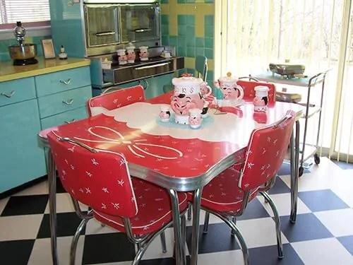 kitchen dinette set tools and gadgets 23 red sets vintage treasures retro renovation white lori