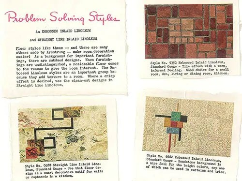 linoleum kitchen flooring 4 piece table set 1940s decor - 32 pages of designs and ideas from 1944 ...