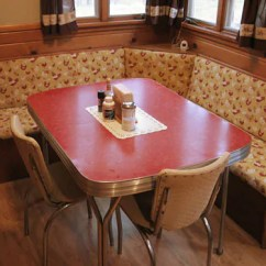 Kitchen Dinette Commercial Cabinets 23 Red Sets Vintage Treasures Retro Renovation And Chrome With Booth Seating