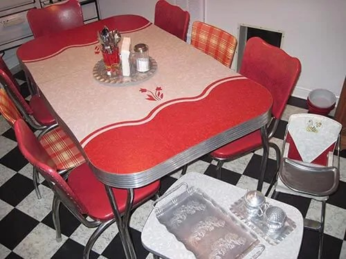 23 red dinette sets  vintage kitchen treasures  Retro