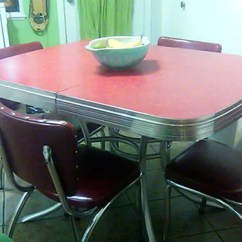 Retro Red Kitchen Table And Chairs Best Desk Chair For Short Person 23 Dinette Sets Vintage Treasures Renovation With Chrome Accents