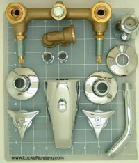 6 inch center tub and shower valves and faucets - Retro ...