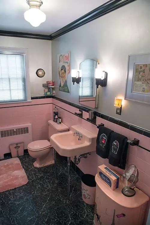 Robert's Pink And Black Bathroom Makeover  Retro Renovation