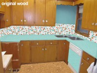 Masterful Refinished Maple Cabinets Tinted Lacquer ...
