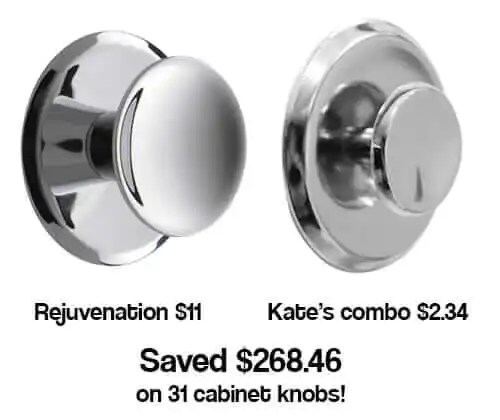 Affordable kitchen knobs and back plates  Kate saves 268