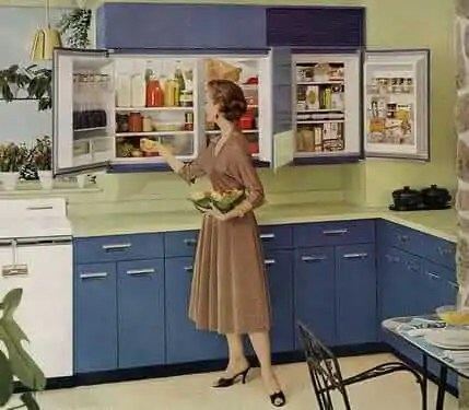 GE wall refrigeratorfreezer  a 1955 innovation  5