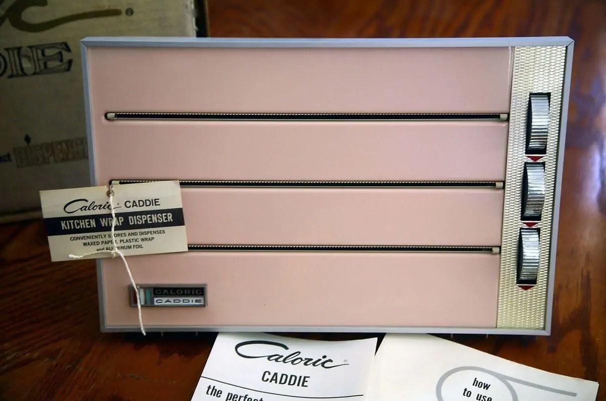 NOS Caloric Caddie kitchen wrap dispenser  color designed