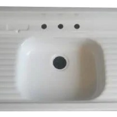 Kitchen Sinks With Drain Boards Faucet Aerator Parts Farmhouse Drainboard Retro Renovation Sink