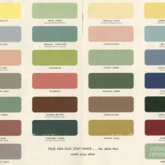Kitchen Paints Large White Island 1954 Paint Colors For Kitchens Bathrooms And Moldings Retro
