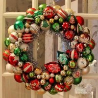 Ornament wreaths made from new Christmas ornaments - I ...