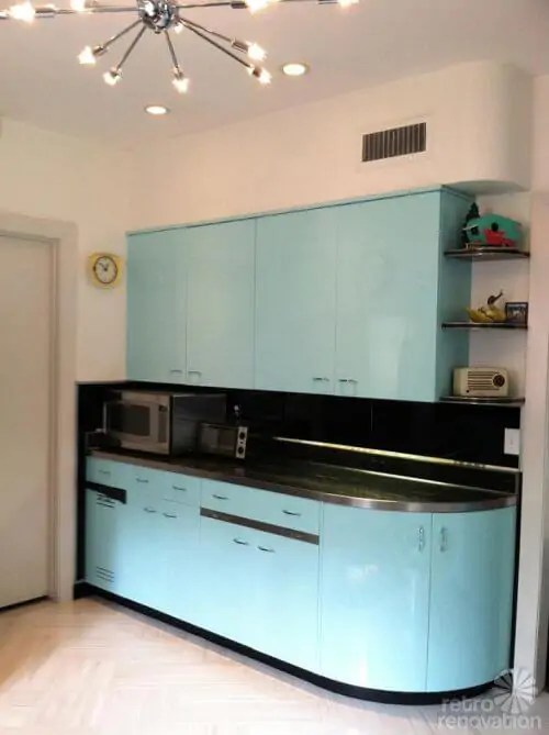 Robert and Carolines mid century home with dreamy St Charles kitchen cabinets  Retro Renovation