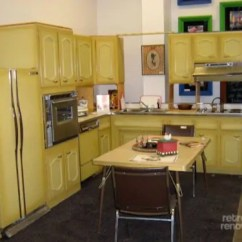 Restore Kitchen Cabinets Budget Remodel Never Used! A 1960s Harvest Gold For Sale In ...