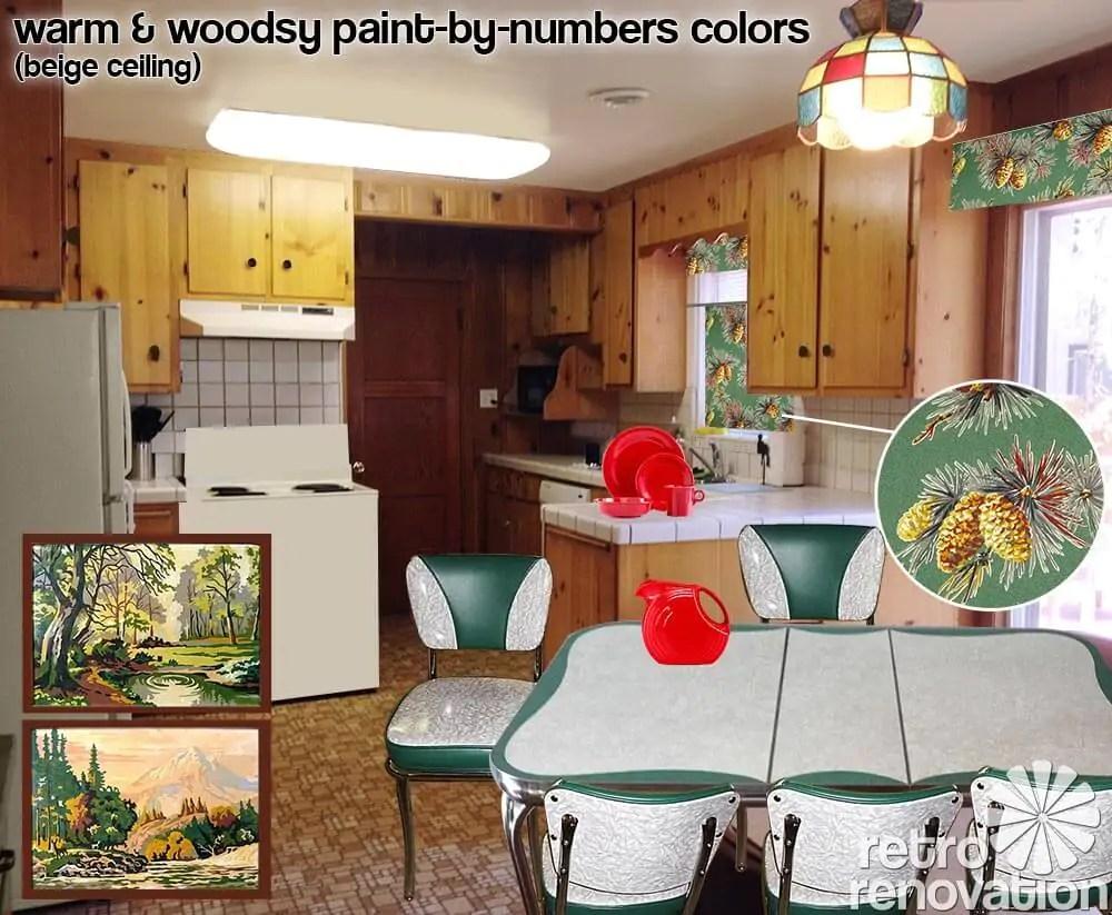 Best Kitchen Gallery: Retro Design Dilemma Choosing Colors For Michaela's Knotty Pine of Knotty Pine Kitchen Curtains on rachelxblog.com