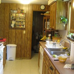 Remodeling A Kitchen On Budget Colors To Paint Cabinets Maile Remodels Dark 1970s Into Sunny 1940s ...