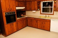 Amber's 1961 knotty pine kitchen before and after Retro ...