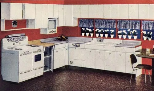 kitchen sink cover pull out faucets six designs from 1953 - avco american kitchens ...