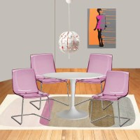 A pop art chic Ikea dining room for just $775