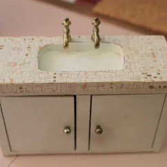 Ebay Kitchen Sinks Lowes Refacing Cabinets A Vintage Pink Bathroom For The Dollhouse - Including ...