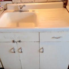 Old Kitchen Sink With Drainboard Cost To Redo Acme Steel Cabinets - Wile E. Coyote Would Approve ...