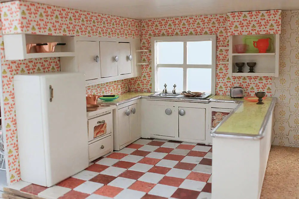 pass through kitchen window home depot layout a vintage + custom for the betsy mccall dollhouse ...