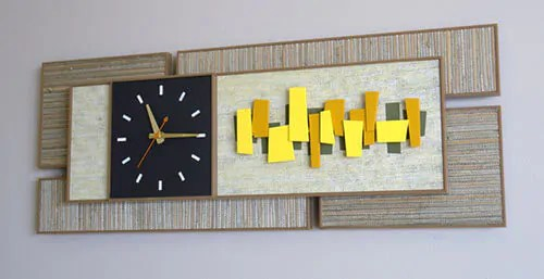 big wall clocks for living room bookshelf in we love: sunbeam style mondrian from ...